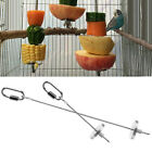 12cm/20cm Stainless Steel Small Parrot Toy Kabob Food Stick Scooter Fruit Skewer