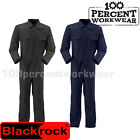 Blackrock Industrial Work Coverall Overalls Boiler Suit Mechanics Black / Navy