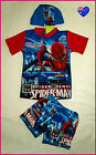 SPIDERMAN - 3pc RASH SET Sz 2 3 4 5 6 - Top Trunks & Lycra Cap SWIMWEAR Togs NEW