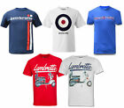 Mens Lambretta Retro MOD Scooter Target 1947 Cotton Tee T-Shirts Sizes S to XL
