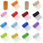 25 Yard Shimmering Glitter Tulle Roll Bow Craft Wedding Party Decor Spool Fabric