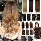 100% real Natural 3/4 Full Head Clip in on Hair Extensions One Piece 5 clips Tpc