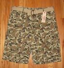 Levis Mens Camo Cargo Shorts and Belt 30/32 NWT