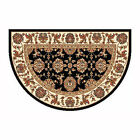 "46""x31"" Kashan Half Round Fire Resistant Fireplace Hearth Rug Carpet"