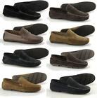 Mens Suede Leather Casual Comfort Slip On Moccasin Penny Driving Loafers Shoes