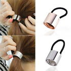 Thboxs Metal Hair Accessories Cuff Stretch Ponytail Elastic Rope Hairband Tie