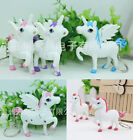 Unicorn Sound LED Light Lamp Torch Keychain Key Ring Kids Toy Party Gift Favor