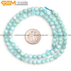 AAA Natural Round Blue Larimar Beads Gemstone For Jewelry Making Strand 15''