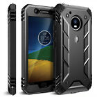 Poetic® For Moto G5 [Double Layered] Shockproof Hard Shell Case Cover Black