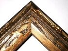 "1.5"" Aged Burnish Gold Antique Rustic Distressed Wood Picture Frame-Standard"