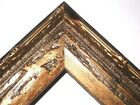 "1.5"" Aged Old World Gold Antique Rustic Wood Picture Frame-Square Sizes"