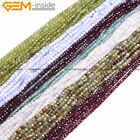 New 3mm 4mm AAA Natural Stone Faceted Round Gemstone Beads Jewelry Making 15''