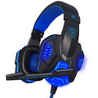 3.5mm LED Surround Stereo Gaming Headset Headband Headphone USB With Mic For PC
