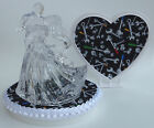 Wedding Cake Topper Clear Couple Dancing Mechanic Themed Auto Grease Monkey Fans