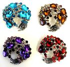 New Large Vintage Style 1940's 1950's Flower Wreaths Spray Brooch