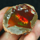 87.4CT Natural Ethiopian Black Chocolate Opal Facet Rough Specimen YQOg74