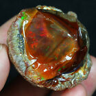 225.3CT Natural Ethiopian Black Chocolate Opal Facet Rough Specimen YQOg75