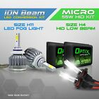 H4 55w HID Hi/Low Beam Headlight Xenon Conversion Kit + H11 6000K LED White Fog