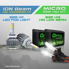 H13 55w HID Hi/Low Beam Headlight Xenon Conversion Kit + H11 6000K LED White Fog