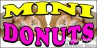(CHOOSE YOUR SIZE) Mini Donuts DECAL Concession Food Truck Sticker