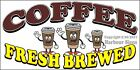(CHOOSE YOUR SIZE) Coffee Fresh Brewed DECAL Concession Food Truck Sticker