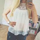 Fashion Womens Ladies Casual Sleeveless Chiffon Vest T Shirt Blouse Loose Top