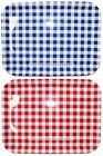 "SUMMER PICNIC* 16""x13"" RECTANGLE TRAY Platter 4TH OF JULY Gingham *YOU CHOOSE*"