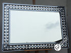 LG Stunning Contemporary Mirror - Diamond Grey and Crystal Design - ASTORIA