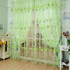 Tulip Flower Sheer Window Curtain Beads Tassel Door Scarf Drapes Valance Divider