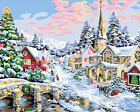 """16X20""""Paint By Number Kit DIY Oil Painting On Canvas-Beauty Flower House H26"""