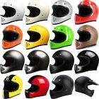 2018 Moto Motorcycle Motocross Full Face Helmet DOT Classic CHOOSE SIZE & COLOR