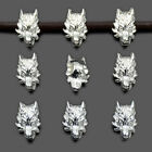 Vintage Antique Solid Metal Wolf Head Bracelet Connector Charm Beads Findings