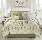 KAMA 7-piece Luxury Embroidery Bamboo Forest Bedding Comforter Set image