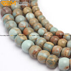"""Natural  Rondelle Beads Shoushan Gemstone Jewelry Making  Loose Spacer Beads15"""""""