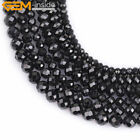 AAA Grade Genuine Natural Black Spinel Stone Beads For Jewelry Making 15''
