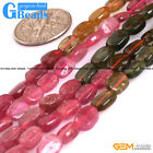 "Natural Multi-color Tourmaline Gemstone Freeform Nugget Chunk Beads Strand 15""GB"