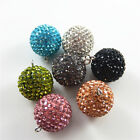 1 Pair Multi-colors Crystal Ball Bell Charm Necklace Pendant Findings 28x23x23mm