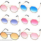 Metal Bar Top Frames Octagonal Shaped Sunglasses Festival Boho Beach Party Rave