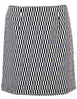 MADCAP ENGLAND 1960S RETRO KARINA MOD OP ART MINI SKIRT: BLACK/WHITE  C178