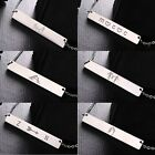 Fashion Letter Stainless Steel Bar Necklace Chain Jewelry Family Friendly Gift