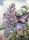 Lilac Flower Fairy Cotton Fabric Crazy Quilt Block Multi Sizes L6 Free Ship
