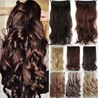 Hot Women one peice 3/4 full head clip in hair extensions Brown Blonde Piece TGF