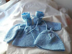 BABY. CARDIGAN HAT.BOOTIES.0/3 MONTH OLD.BLUE. EVERYDAY.KNIT.BERNAT.PINK.KITTY