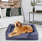 Dog Sofa Pet Bed Lounge Solid Memory Foam Comfortable Small Large X Large Gray