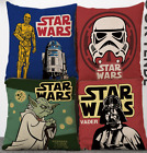 Star Wars Flax Linen Throw Pillow Case Cushion Cover Home Decor $4.97 CAD