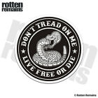 Don't Tread on Me Live Free or Die Decal Tattered Snake Vinyl Sticker M55