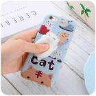 For iPhone 7 Case 3D Soft Cat Shockproof Silicone Slim Anti Anxiety Back Cover