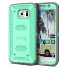 For Samsung Galaxy S6 Heavy Duty Shockproof Rugged Impact Rubber Hard Cover Case