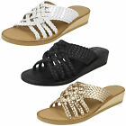 WHOLESALE Ladies Leather Braided Mules / Sizes 3-8 / 14 Pairs / F00076