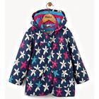 BNWT New Hatley Starflower Raincoat Girls Coat Blue